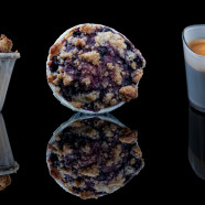 Blueberry Muffins with Hazelnut Crumble