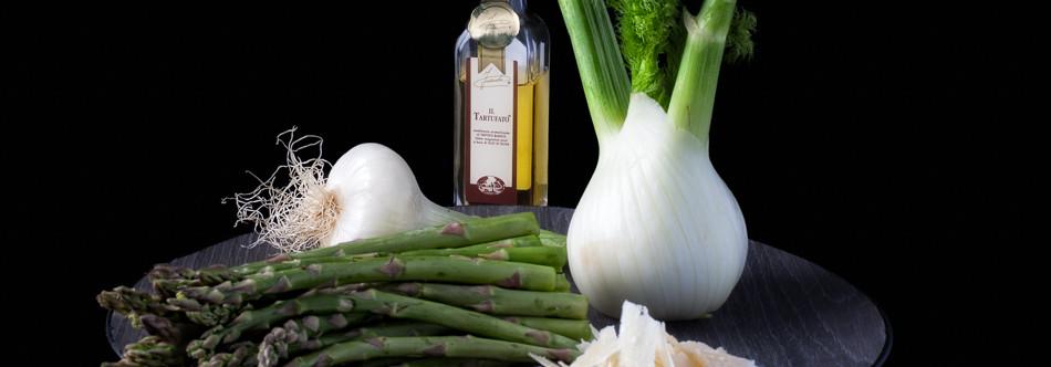 Salade d'Asperges Vertes et Fenouil à l'Huile de Truffe Blanche